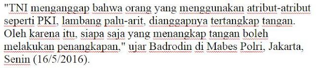 Mantap Makin Kompak! Kapolri Izinkan TNI Ciduk Pengguna Atribut PKI, Sikat Ndan Sampe Ke Akar Akarnya - Commando