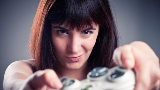 Ilustrasi bermain game