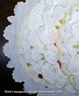 Society Silk Violets: variety of edges on extant Society Silk examples