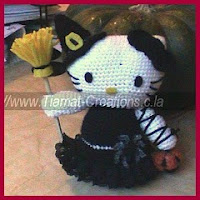 Kitty de Halloween amigurumi