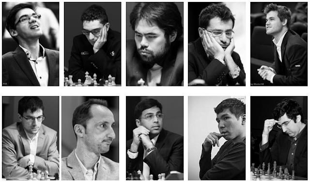 Participantes del Grand Chess Tour Leuven