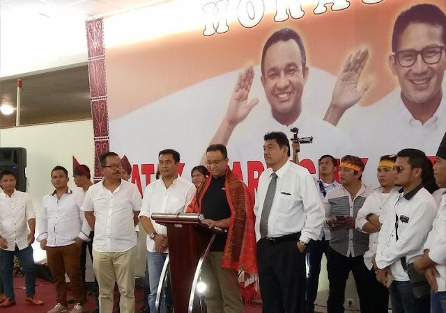 Didukung Komunitas Batak, Anies: Kita Ingin Semua Bersatu