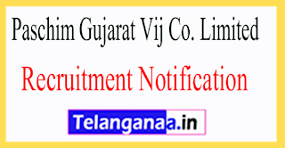 Paschim Gujarat Vij Co. Limited PGVCL Recruitment Notification 2017