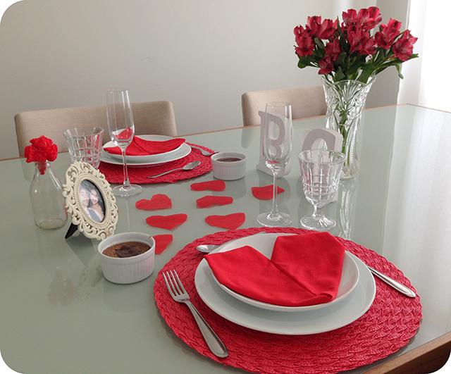 Montando a Mesa : Decoração Almoço Romântico