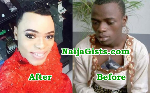 Nigerians Declare War On Bobrisky Gay Cult Member In The -7338