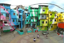Keindahan Kampung Jodipan Malang Yang Warna-Warni