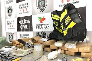 Homem é preso com 30kg de maconha em Campina Grande