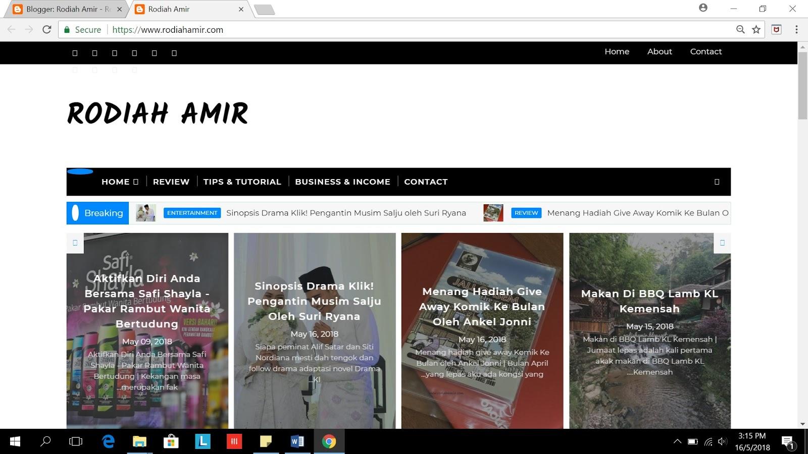 kesan Tukar domain blogspot