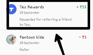 "Payment App by Google - Tez, Google App Refer & Earn, ₹51 Per Referral, Google Tez Referral Code, Google Tez Referral Link,    Google Tez Refer & Earn Offer Detail - Hello Friends!! Here is Another maha loot by Tez App which is owned by Google India. By ""Google Tez"" UPI App you can experience fastest UPI Transactions. This Is New App for UPI Payment, Send Money to friends and Receive Payments directly in your Bank Account. This is based on NPCI's (National Payments Corporation of India) Unified Payments Interface (UPI), money transfers are simple & secure with Tez.  Google Tez, Google App Refer & Earn, ₹51 Per Referral, Google Tez Referral Code, Google Tez Referral Link,   Google Tez Refer & Earn Offer -   Google Tez announced Refer & Earn Offer through which you will get Rs.51 on SignUp as well as Rs.51 when your referred friends complete his first Transaction of Rs.1 Minimum. You can Earn Maximum of Rs.9000  You & Your Friend Both Will Get  Free Rs.51 Cashback On Directly In Bank When You Do Rs.1 Transaction.  How To Get Rs.51 on Bank Account by Registerering on Tez App ? And Refer & Earn Rs.51   1. Firstly Install Google Tez  App by Clicking Here.   2. Allow All Permission in Google Tez App.  3. Choose Language and Enter Your Mobile Number which is Registered in Your Bank.  4. Verify Your Mobile Number by Entering OTP and Login with Email id.  5. You can Secure your Google Tez App by Google Pin or Mobile Pattern.  6. Go To Setting option > Bank Account > Select Your Bank > Create UPI PIN Or verify Your Bank Account With UPI PIN    Or Simply Click on "" Add Bank Account "". Choose the Bank which you own. And Verify with the Sim which is Registered in Bank.    Now Complete a Transaction of Rs.1 and Get Rs.51 Instantly.  7. In Dashboard you can see send money option, Send Money to your Friends Tez Numbers. If your friends don't having Tez Account then you can send us by Clicking on New and entering UPI ID as "" tejpratapchoudhary@okaxis "". ( send only Tez UPI ID/ Number)   You can send Minimum Rs.1 to get Rs.51 in your Bank Account. Don't having Tez Number then Send Us Rs.1 at  tejpratapchoudhary@okaxis      After Successful Transaction, You Receive Rs.51 Instantly.   And Rs.51 will be Transferred to Your Bank Account within 48hrs.   8.Now Start Referring, Click on Invite Friends and Start Sharing your Refer Link.  9. Tell your Friends to Add/send Rs.1 in their Account and both of you will get Rs.51 in Your Account.  10. You can earn Maximum of Rs.9000 from this Offer by referring your Friends.  Whatsapp Broadcast@8271934264  OFFER DATES - Offer expires 1 April 2018  DETAILS - Invite anyone to Tez and you each get 51 when your referral makes their first payment, Just share your unique învite link and make sure that your referrer downloads Tez from it,  Also Read ( Live Again ) Paytm – Rs 50 Cashback on Rs 100 Recharge & Bill Payments [ All User ]  TERMS & CONDITIONS Your friend must sign up through your unique Tez Invite link https://g.co/tez/SZ2eW Your friend mnust successfully complete a Payment using the Tez app You will only be pald for înviting the same person Once, You can earn a maximum of 9,000 per financlal year (1 April to 31 March). See complete terms and conditions,  If you have any questions/quieres regarding Google Tez App, Tez App, Tez Tricks, Tez Referral Link/Code, Google Tez Refer & Earn Offer, Tez Tricks, Tez Tricks Refer and Earn, Rs.51 per Refer, Earn Real Money Bank hoti  Rs.9000 by Google Tez App, Tez App by Google India, Tez UPI App, tez app, tez app by google, google payment app, google upi app, google tez offer, google tez 51rs offer, tez app download, tez app refer and earn, tez 51 rs per refer, tez offer, tez offer, earn money by tez app, tez app latest offer, google offers, google upi offers, then feel free to comment below."