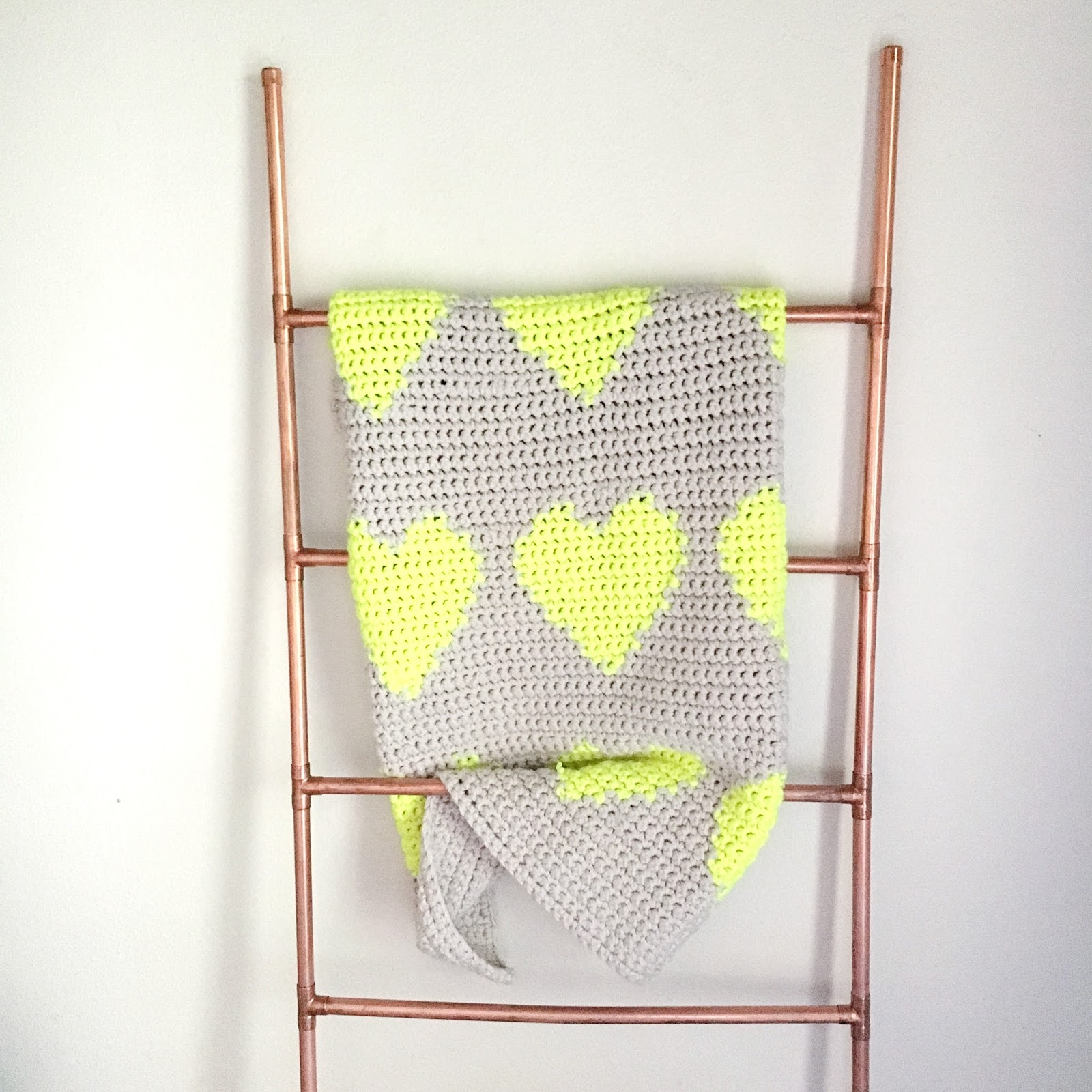 Multi Hearts Modern Tapestry Crochet Baby Blanket Pattern - the ...