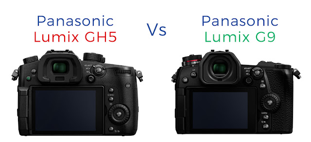 Rear LCD Touchscreen comparison of the Lumix GH5 and G9