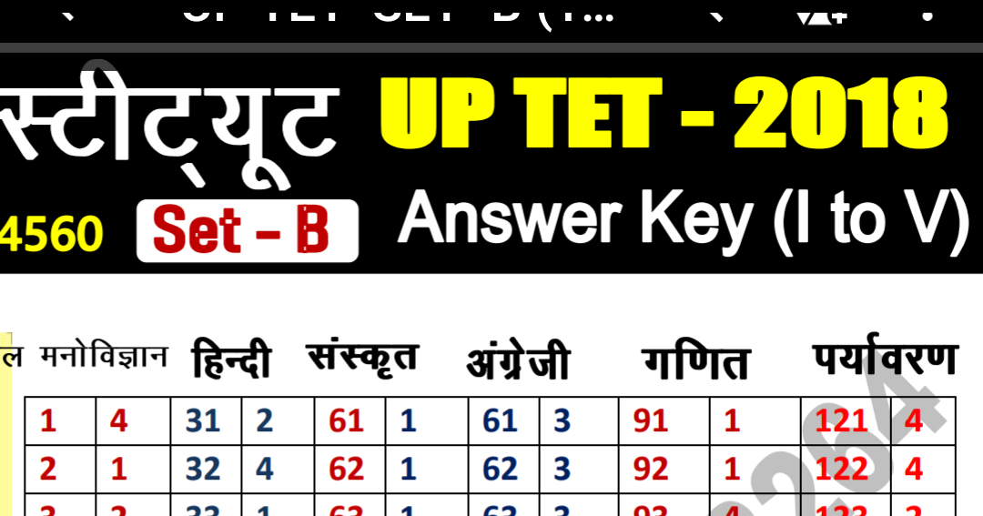 Up tet answer sheet 2018 November PDF download apex ...