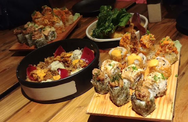 The food at Ooma Japanese Restaurant