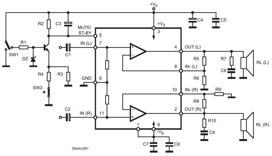 AmplifierCircuits.com: TDA Amplifiers