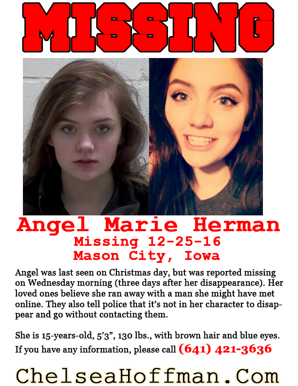 Iowa: Angel Marie Herman missing since Dec. 25