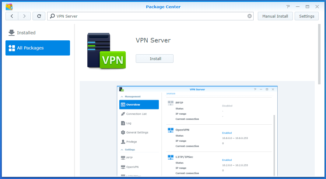 synology download center vpn
