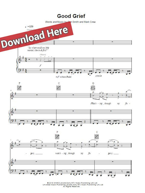 bastille, good grief, sheet music, piano notes, chords, score, keyboard, guitar, download, print, PDF, tutorial, lesson, bass, klavier noten
