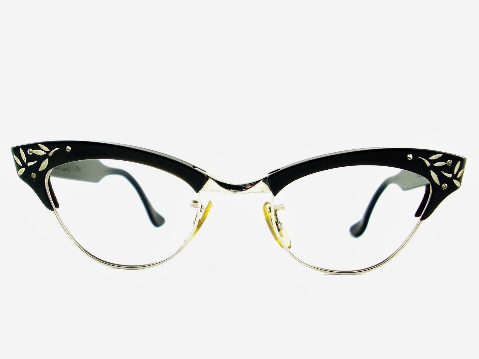 c88a227301347 Vintage Eyeglasses Frames Eyewear Sunglasses 50S  Vintage Cat Eye ...