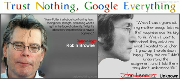 John Lennon Happiness Stephen King Twilight Potter Quote