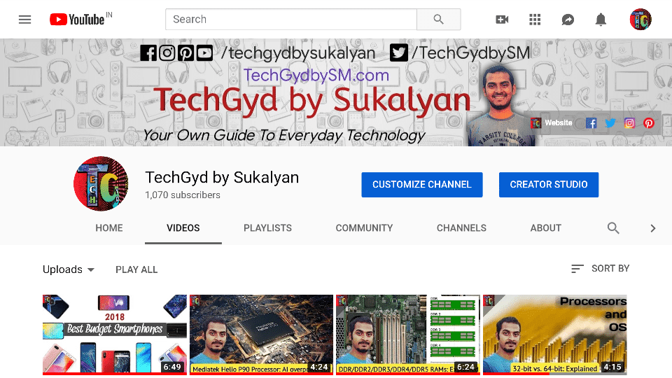 TechGyd on YouTube
