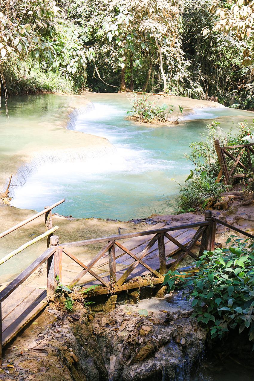 Luang Prabang Kuang Si Wasserfall