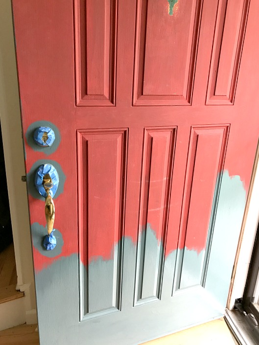 painting the front door with fusion mineral paint