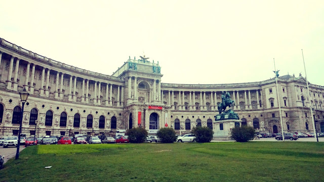 Inside the grounds of Hofburg Palace