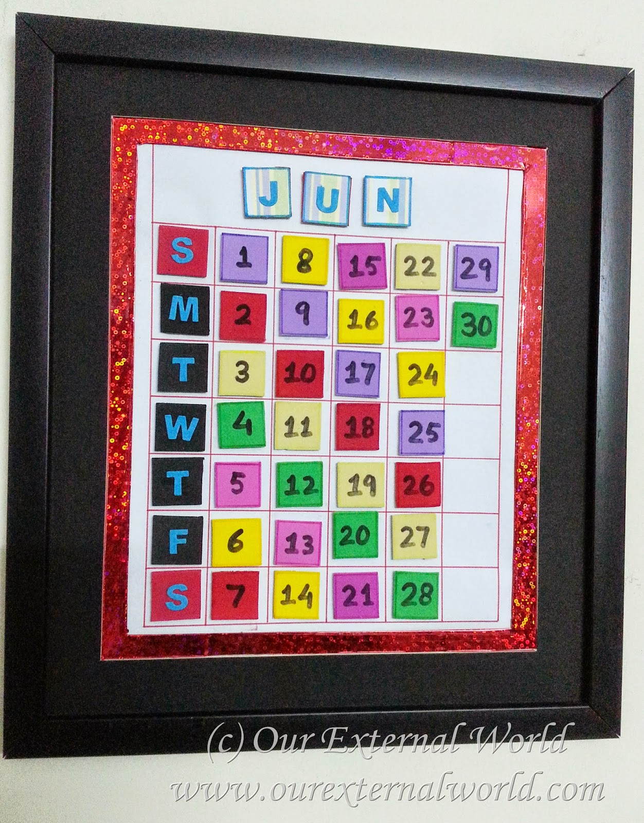 DIY Magnetic Calender
