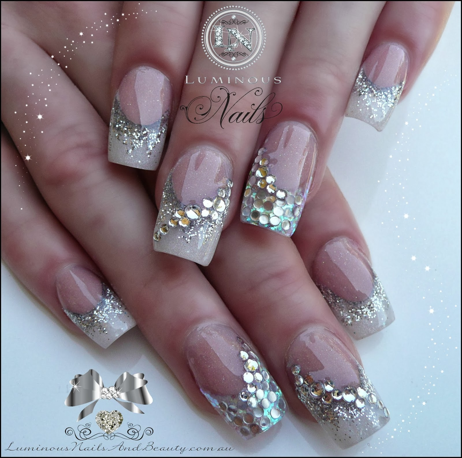 Nail Designs With Rhinestones And Glitter | Best Nail Designs 2018