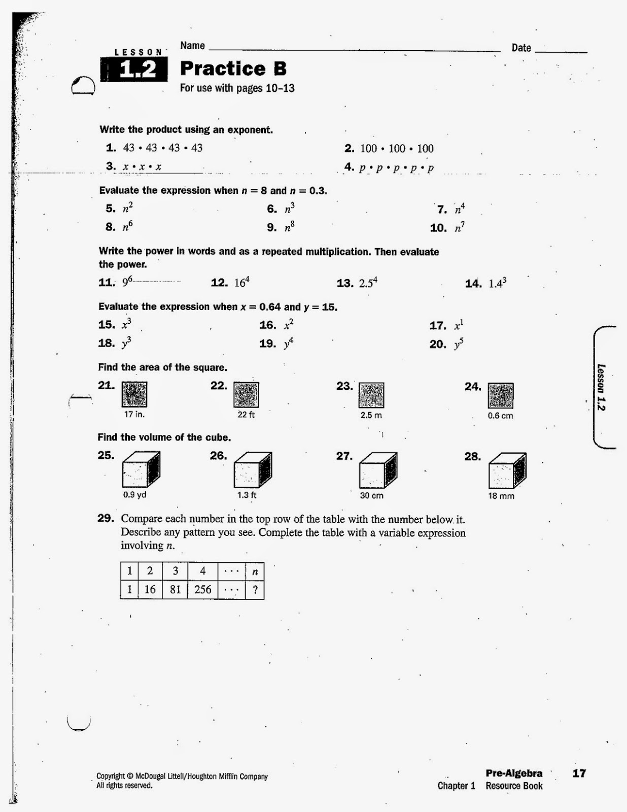 Heidemann 8th Grade Math Pre Algebra Hw 8 26