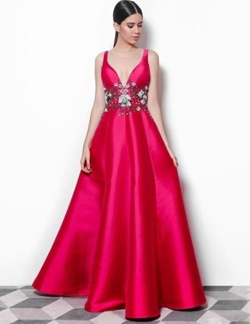 vestido de festa pink