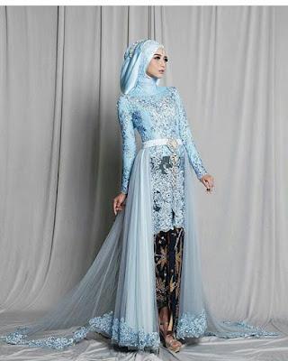 Kebaya Pengantin Kombinasi Batik