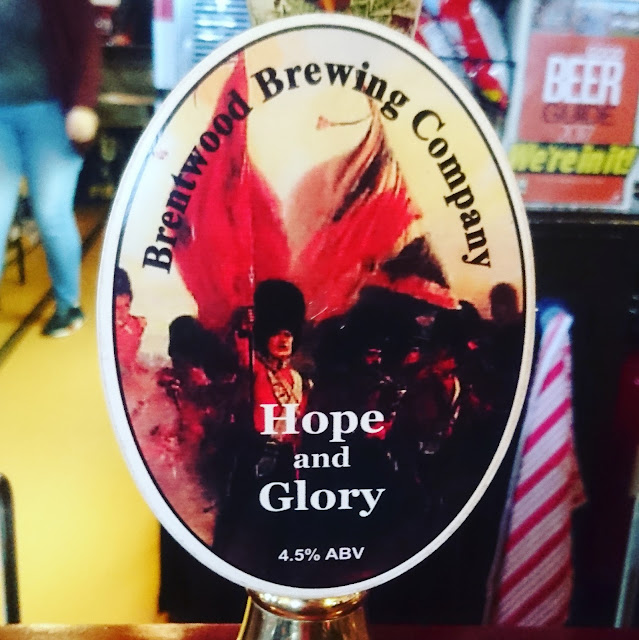 Essex Craft Beer Review: Hope and Glory from Brentwood Brewing Company real ale pump clip
