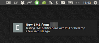 PB For Desktop SMS notification