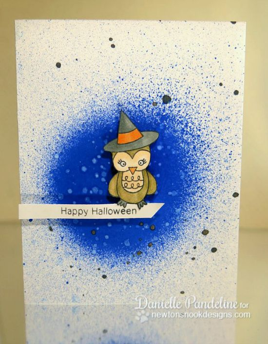 Owl Halloween Card by Danielle Pandeline  | Boo Crew stamp set by Newton's Nook Designs #newtonsnook