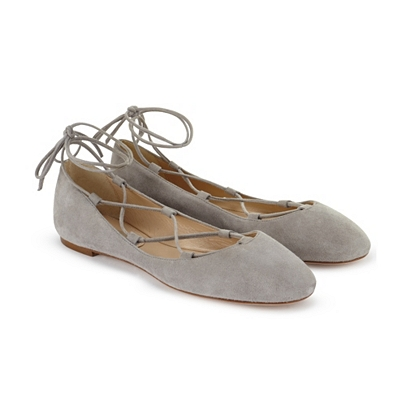 The White Company Lace Up Ballet Flats