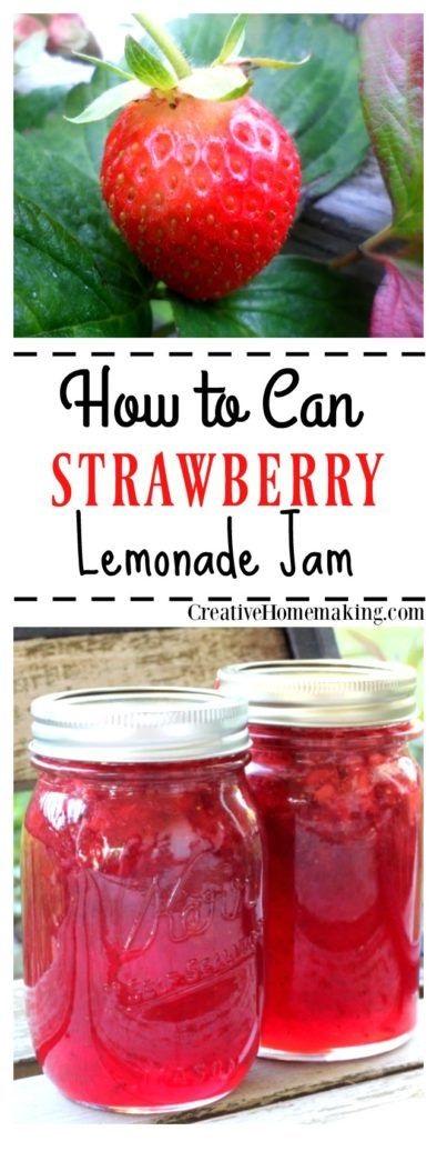 Canning Strawberry Lemonade Jam