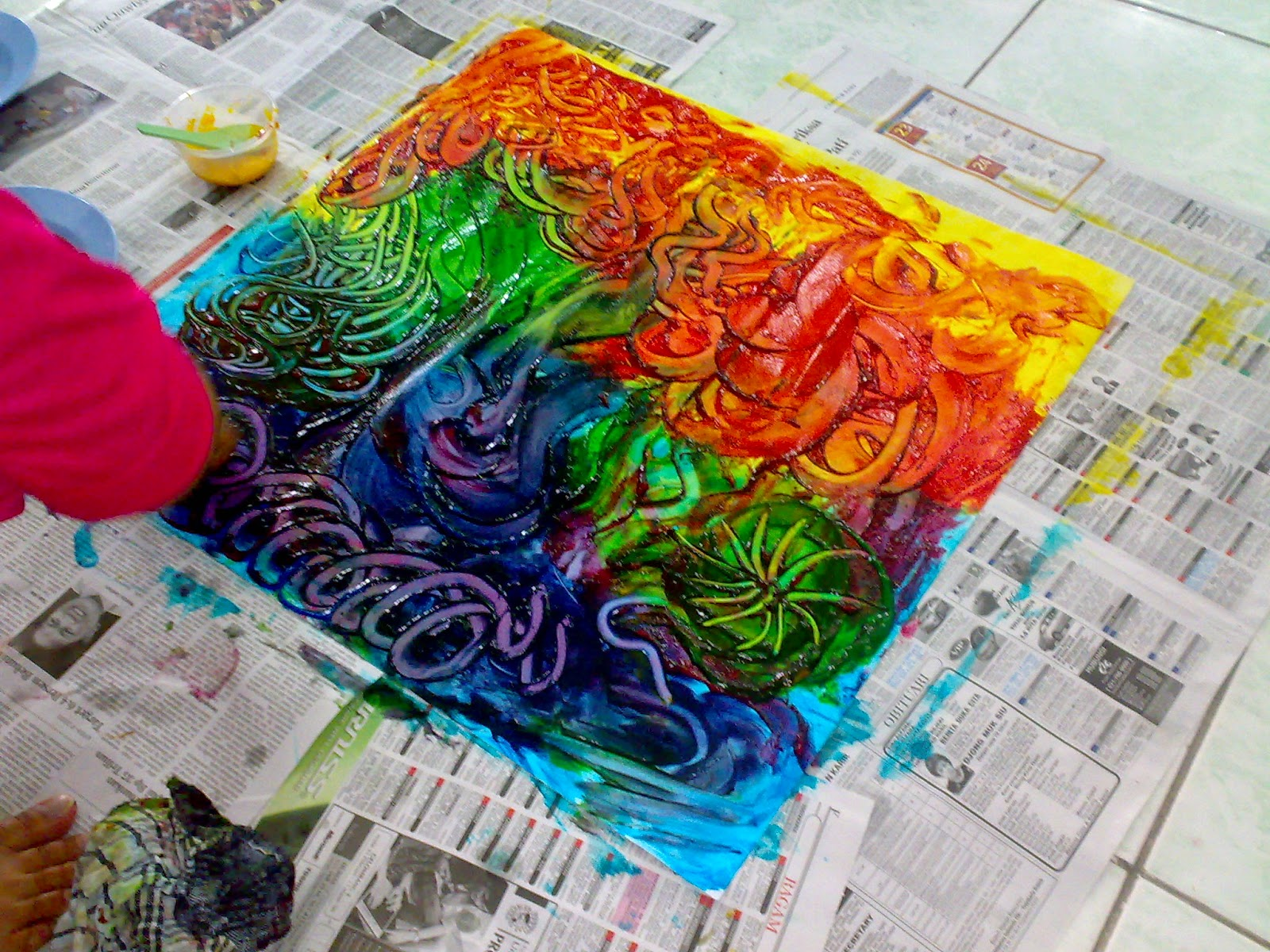 Tangan Tangan Kreatif Finger Painting