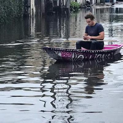 Lagos Flood, News, Canoe, Ikoyi,