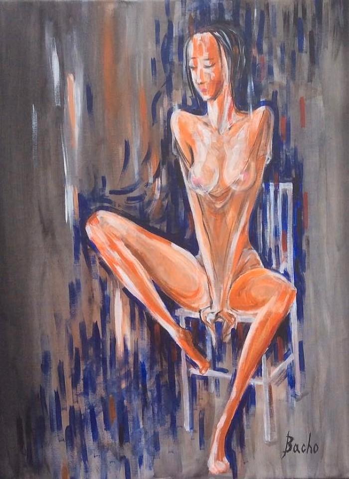 Грузинский художник. Bacho Tsamelasvili
