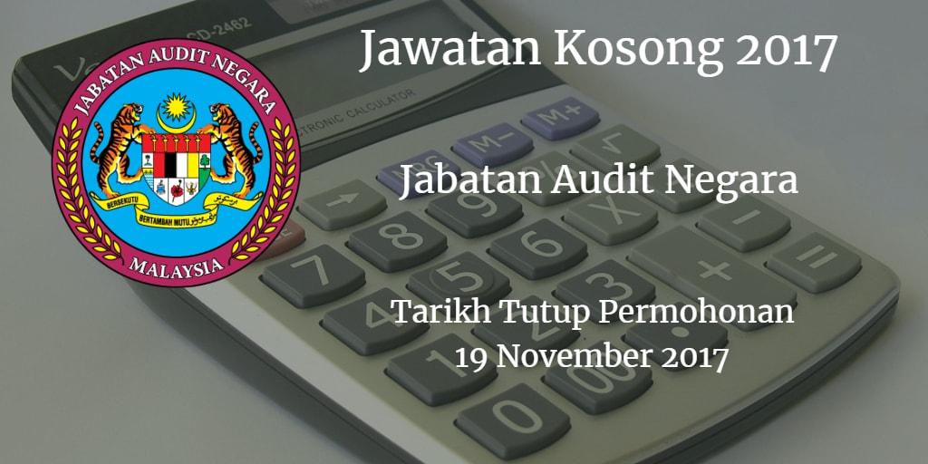 Jawatan Kosong JAN 19 November 2017