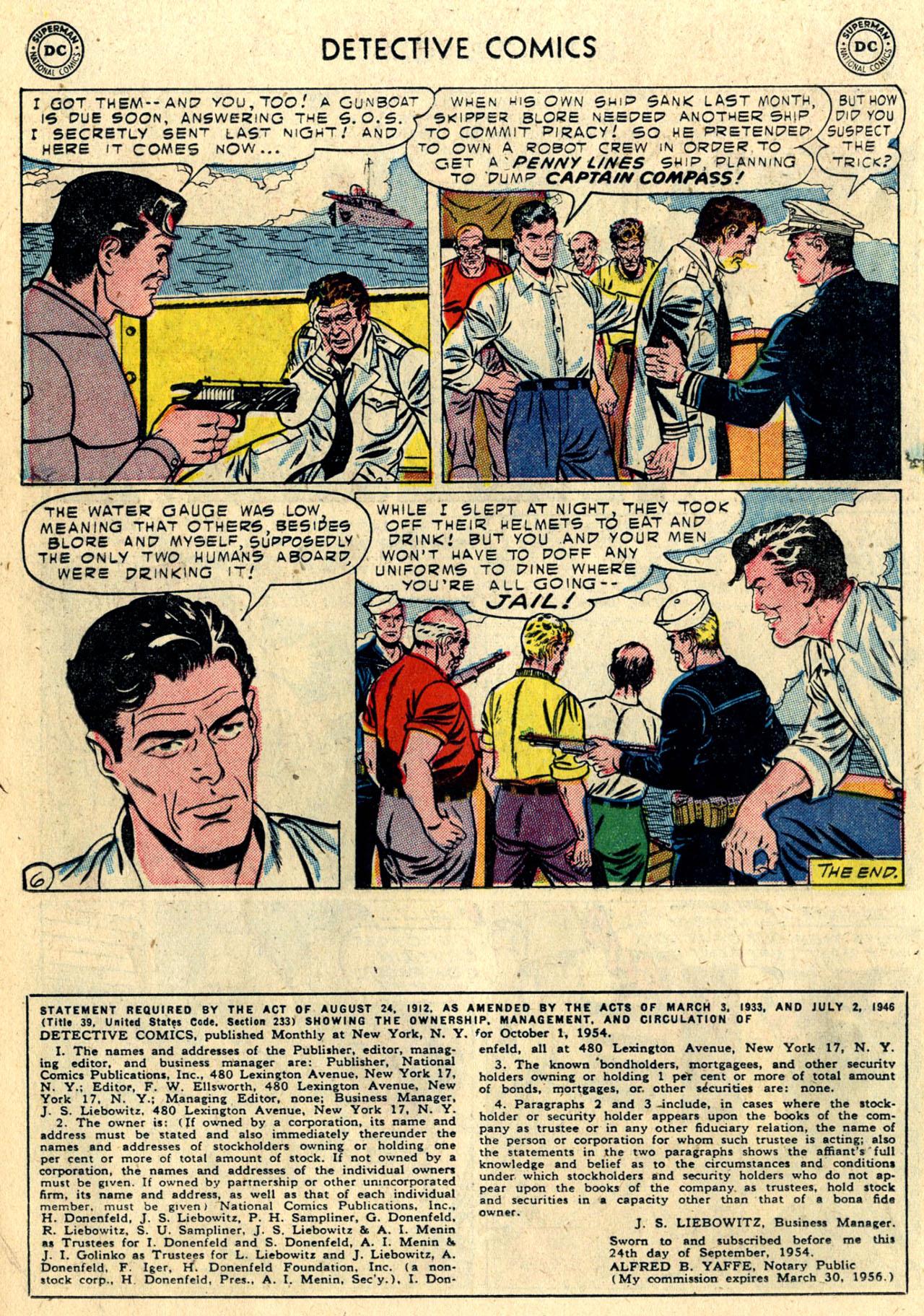Read online Detective Comics (1937) comic -  Issue #216 - 22