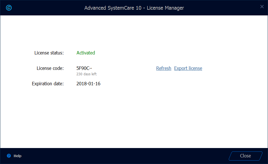 advanced systemcare code 10