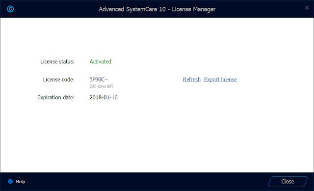 advanced systemcare 10.4 pro serial key