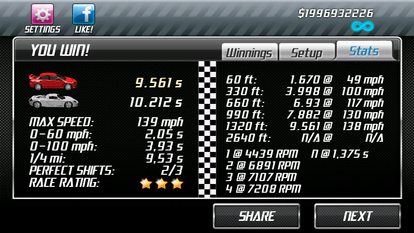 Drag Racing Level  Best Car Tune