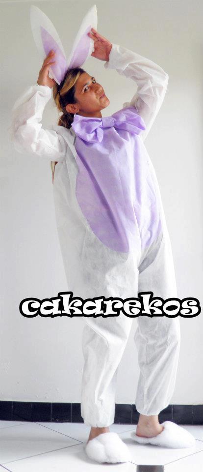 584ad2392 Cakarekos Páscoa Chegando Fantasia De Coelho Feita De Tnt