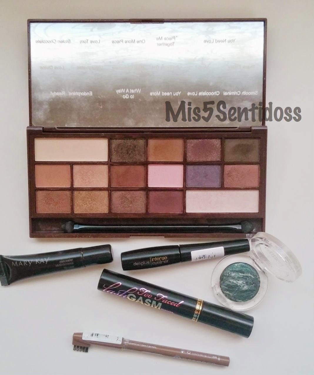 Maquillaje tonos marrones y verdes