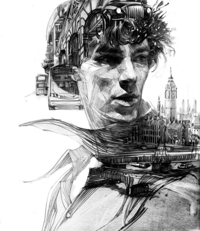 13-Benedict-Cumberbatch-Zhang-Weber-Layers-in-Pencil-Portrait-Drawings-www-designstack-co