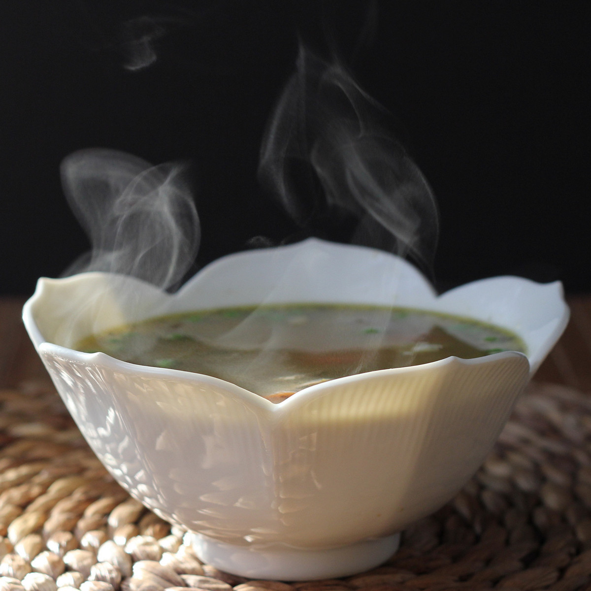 Steam From Soup ~ Cookistry chicken sausage thigh noodle soup