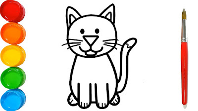 How to Draw a Cat for Kids \u2013 Cat Drawing for Kids \u2013 Cat
